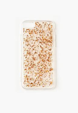Rose Gold Glitter Flake iPhone 7 Case