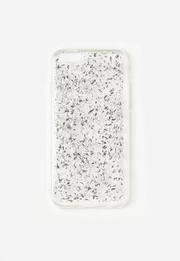 Silver Flaked Glitter iPhone 6 Case