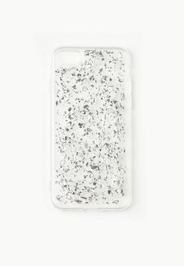 Silver Glitter Flake iPhone 7 Case