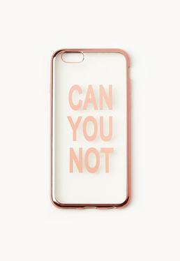 Coque iPhone 6 rose doré can you not