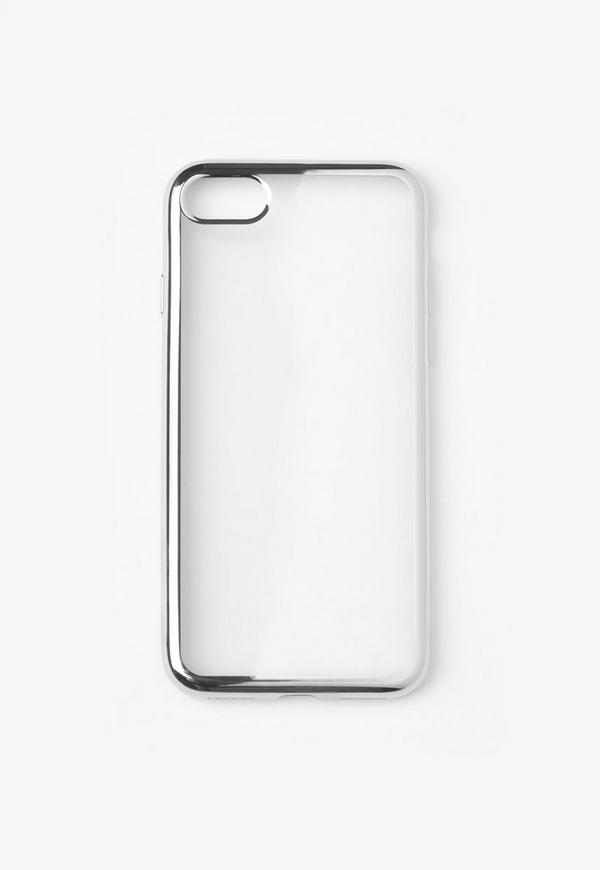 Silver Metallic Edge iPhone 7 Case