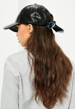 Black Bandana Detail Cap