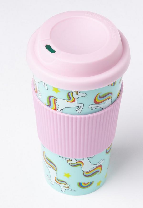 pink unicorn travel mug missguided. Black Bedroom Furniture Sets. Home Design Ideas