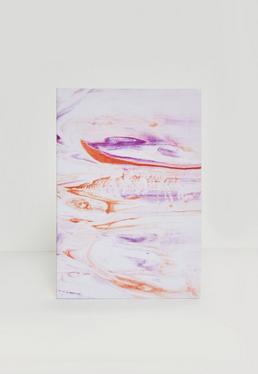 Różowy marmurkowy notatnik
