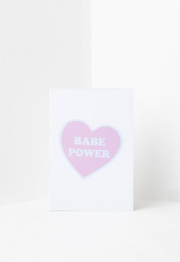 White Babe Power Notebook