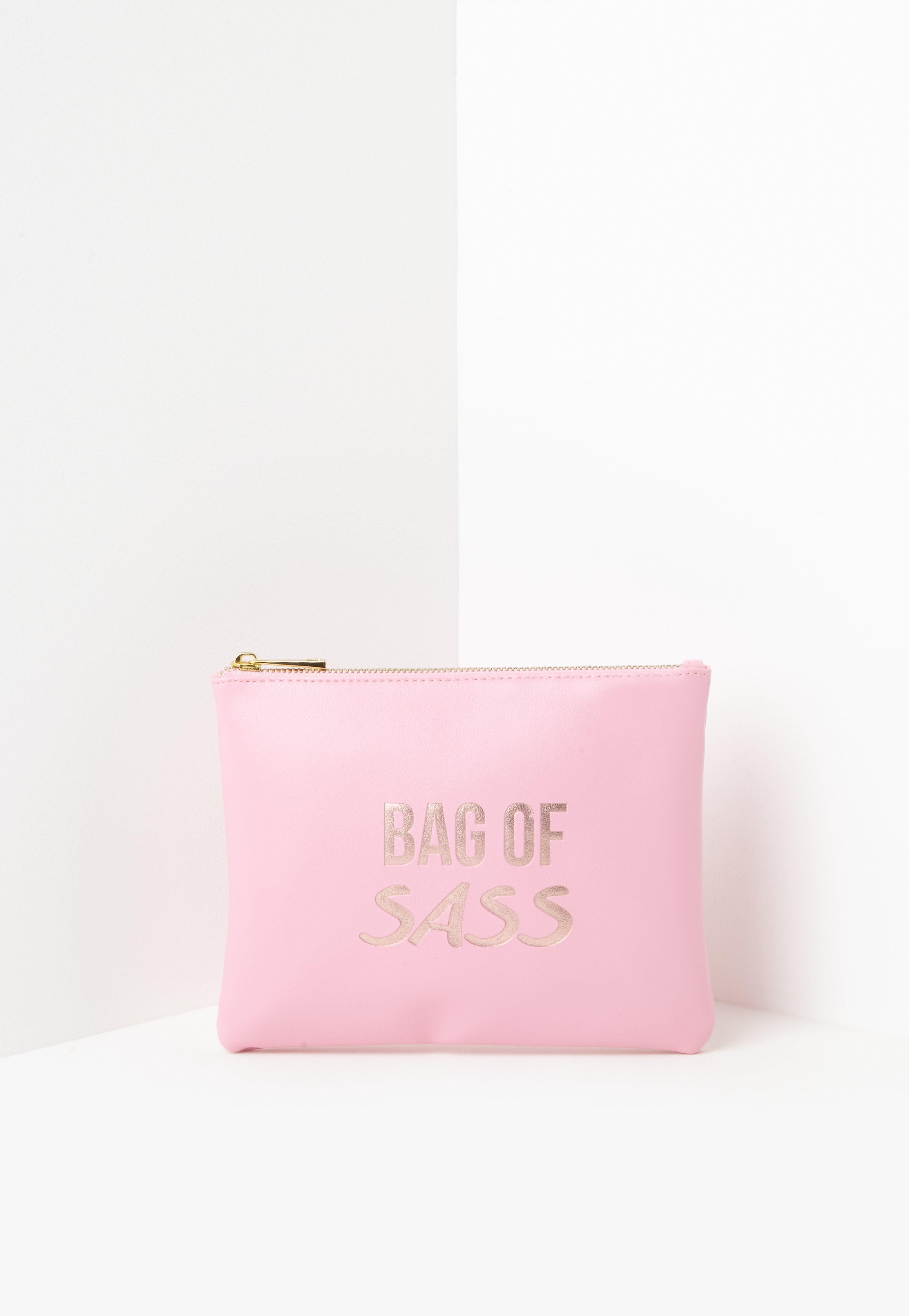 09478036e2 Pink Bag Of Sass Makeup Bag