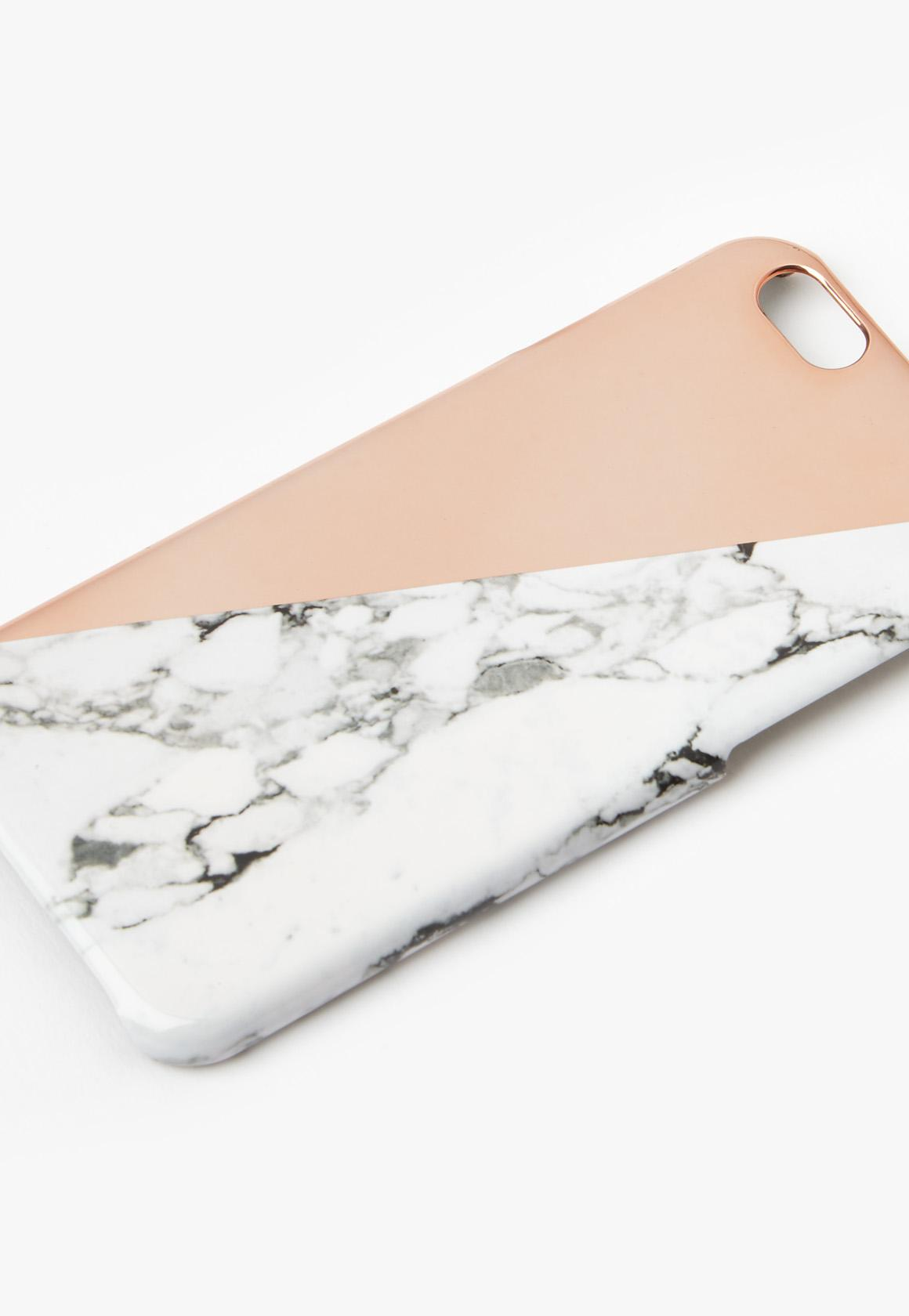 coque rose gold iphone 6 marbre