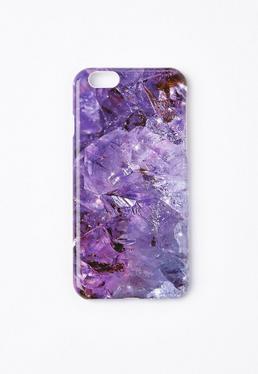 Purple Crystal Effect iPhone 6 Case