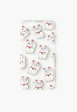 White Googly Eye Lucky Cat iPhone 6 Case