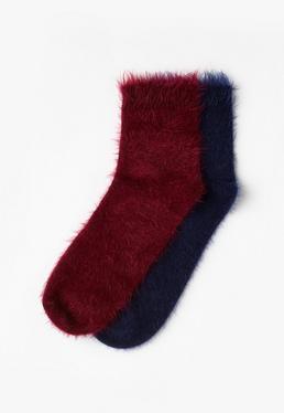 Fluffy 2 Pack Socks