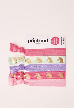 Popband 5 Pack Hair Ties Unicorn