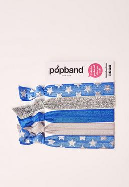 Popband – 5-teiliges Haarband-Set im Cheerleaderdesign