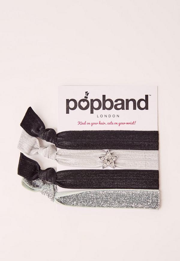 Popband 4 Pack Hair Ties SuperStar