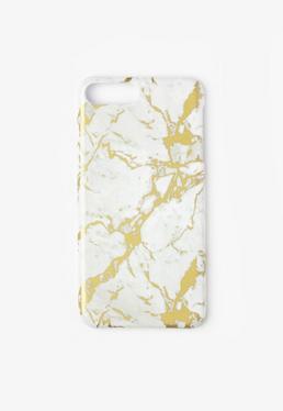 Coque blanche effet marbré pour iPhone 7