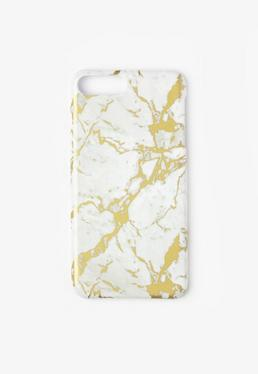 White Marble Foil iPhone 7 Case