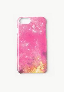 Pink Galaxy iPhone 7 Case
