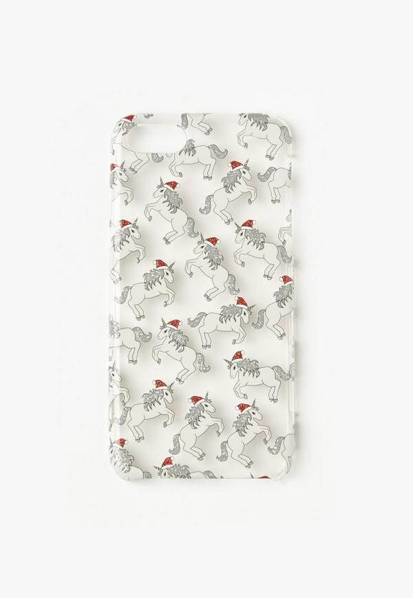 Glitter Santa Unicorn iPhone 7 Case