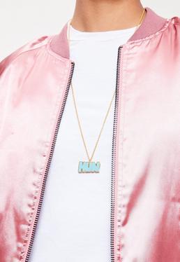 Blue Hun Charm Necklace