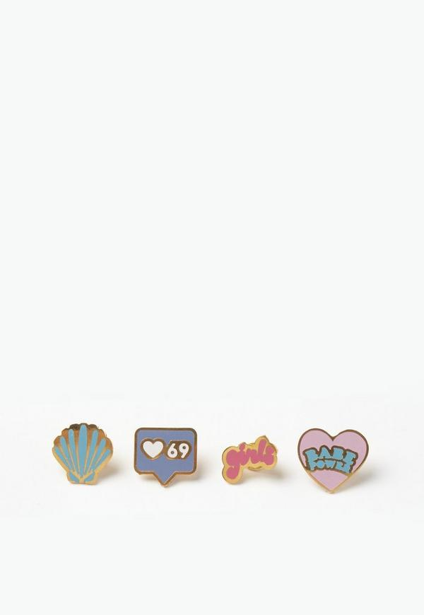 Girl Power Enamel Pin Badge Pack
