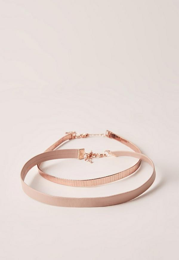 Rose Gold Double Layer Choker