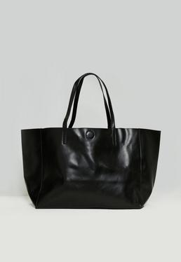 Black Clean Edge Tote Bag