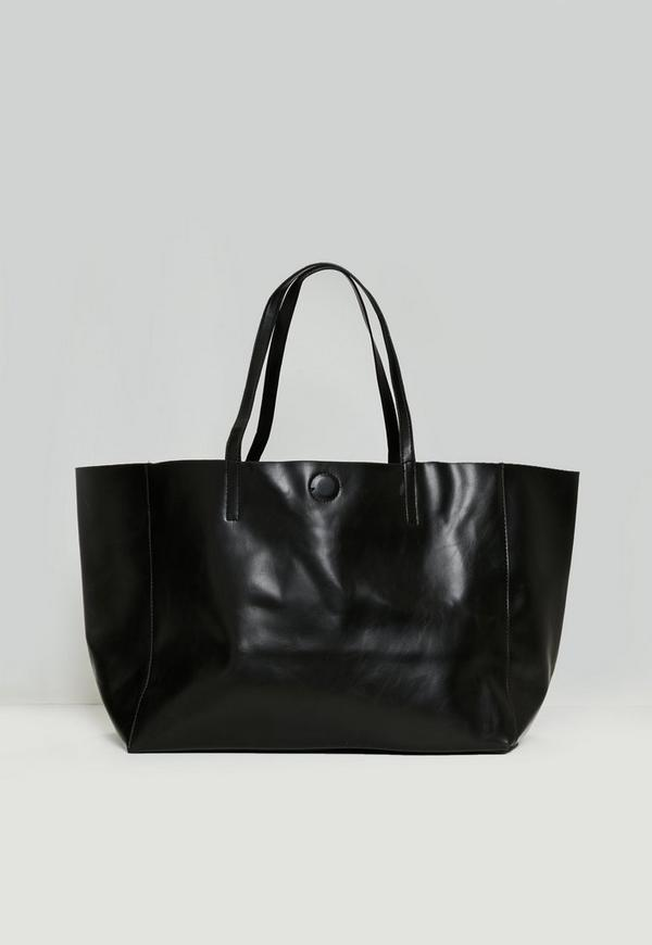 Black Clean Edge Tote Bag