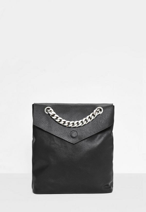 Black Statement Chain Backpack