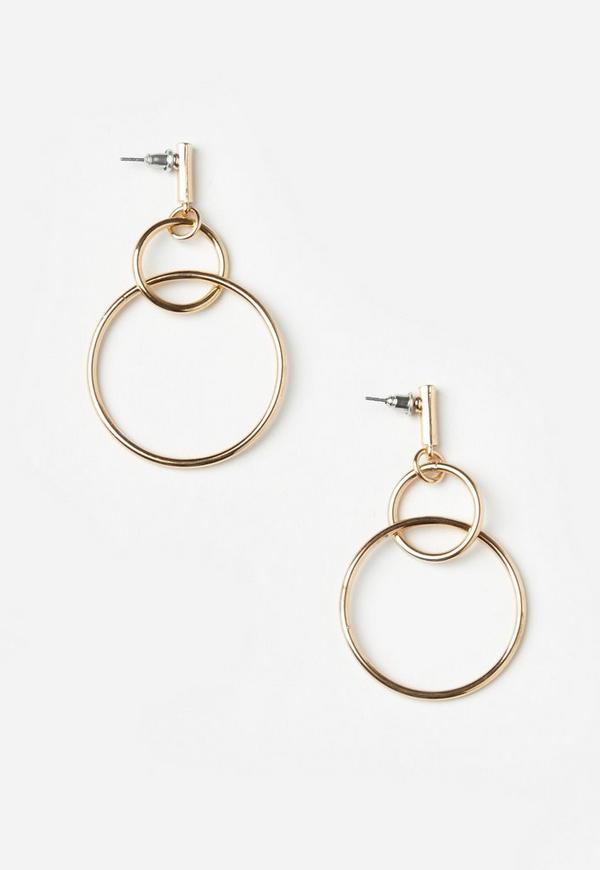 Gold Double Hoop Earrings Previous Next