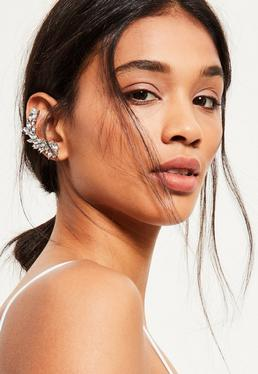 Silver Jewelled Ear Cuff