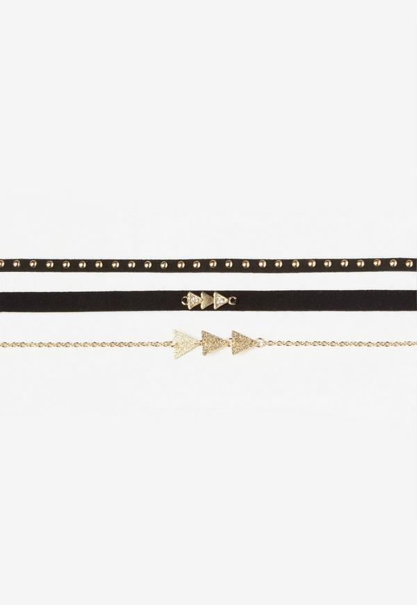 Gold Simple Three Pack Chokers