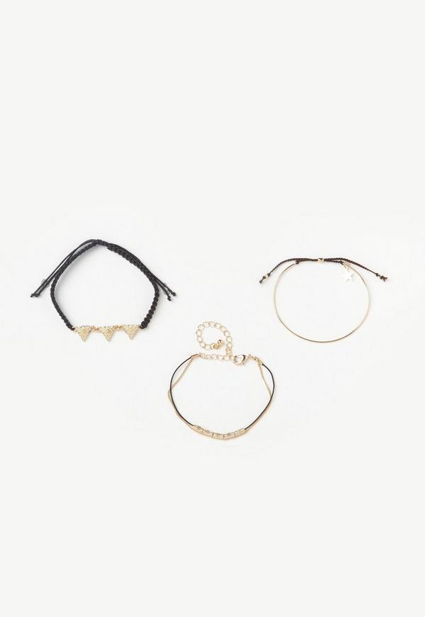 Gold Simple 3 Pack Bracelets