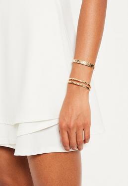 Lot de bracelets dorés