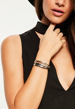 Lot de bracelets argentés