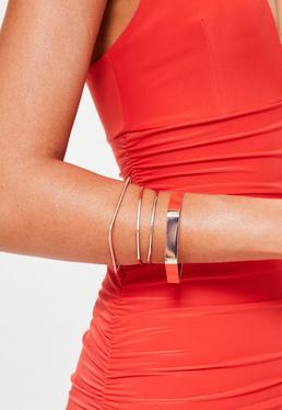 Rose Gold Metal Stacking Bracelets