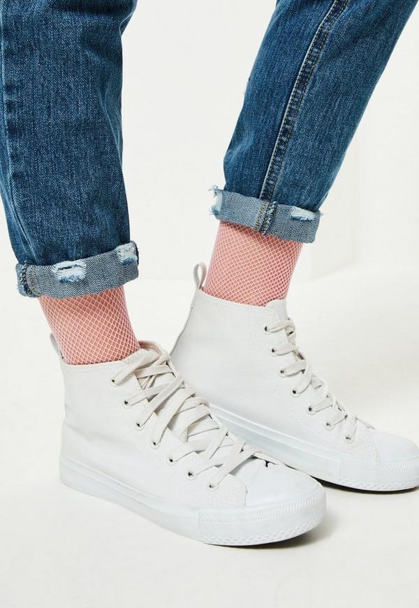 Pink Fishnet Socks
