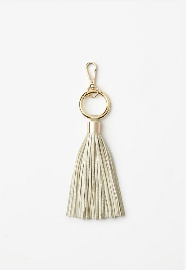 Gold Sleek Tassel Keyring