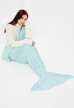 Blue Mermaid Fishtail Blanket