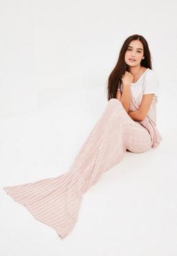 Pink Mermaid Fishtail Blanket
