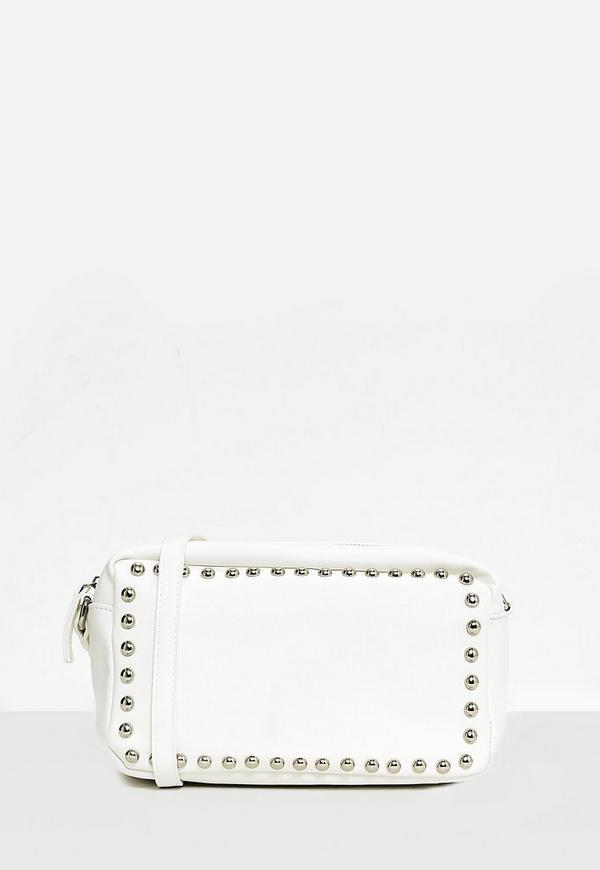 White Stud Cross Body Bag