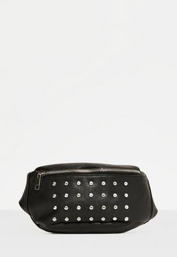 Black Studded Fanny Pack