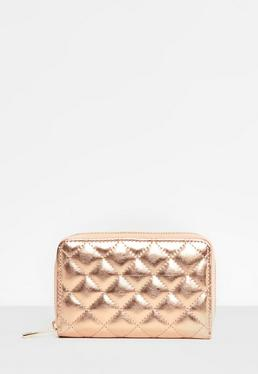 Rose Gold Quilted Purse