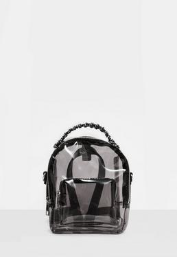 Mini mochila de metacrilato en negro