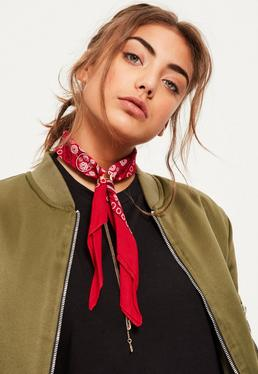 Red Printed Neckerchief