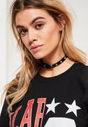 Black Star Stud Choker Necklace