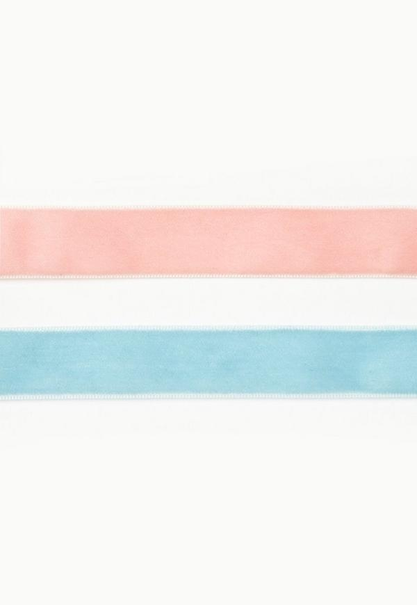 Pink & Blue 2 Pack Choker Necklaces