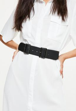 Black Sleek Double Buckle Belt