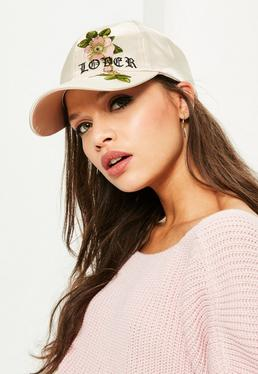 Nude Lover Embroidered Satin Cap