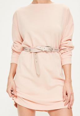 Nude Multi Stud Belt