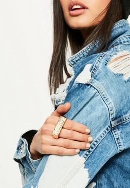 Gold Pimp Statement Knuckle Duster Ring