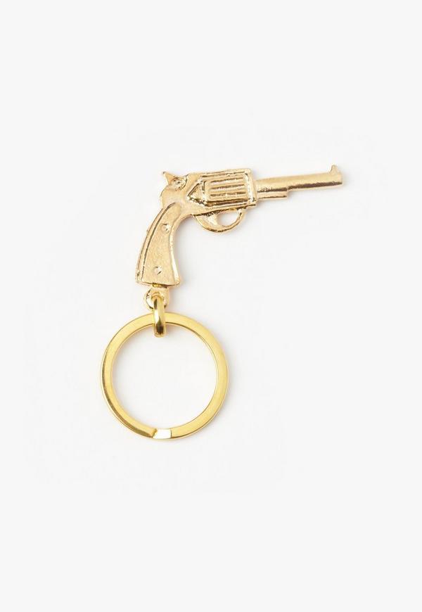 Gold Gun Key Ring